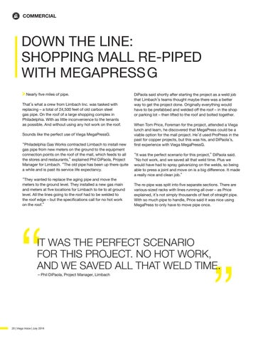 Page 20 of DOWN THE LINE: SHOPPING MALL RE-PIPED WITH MEGAPRESSG