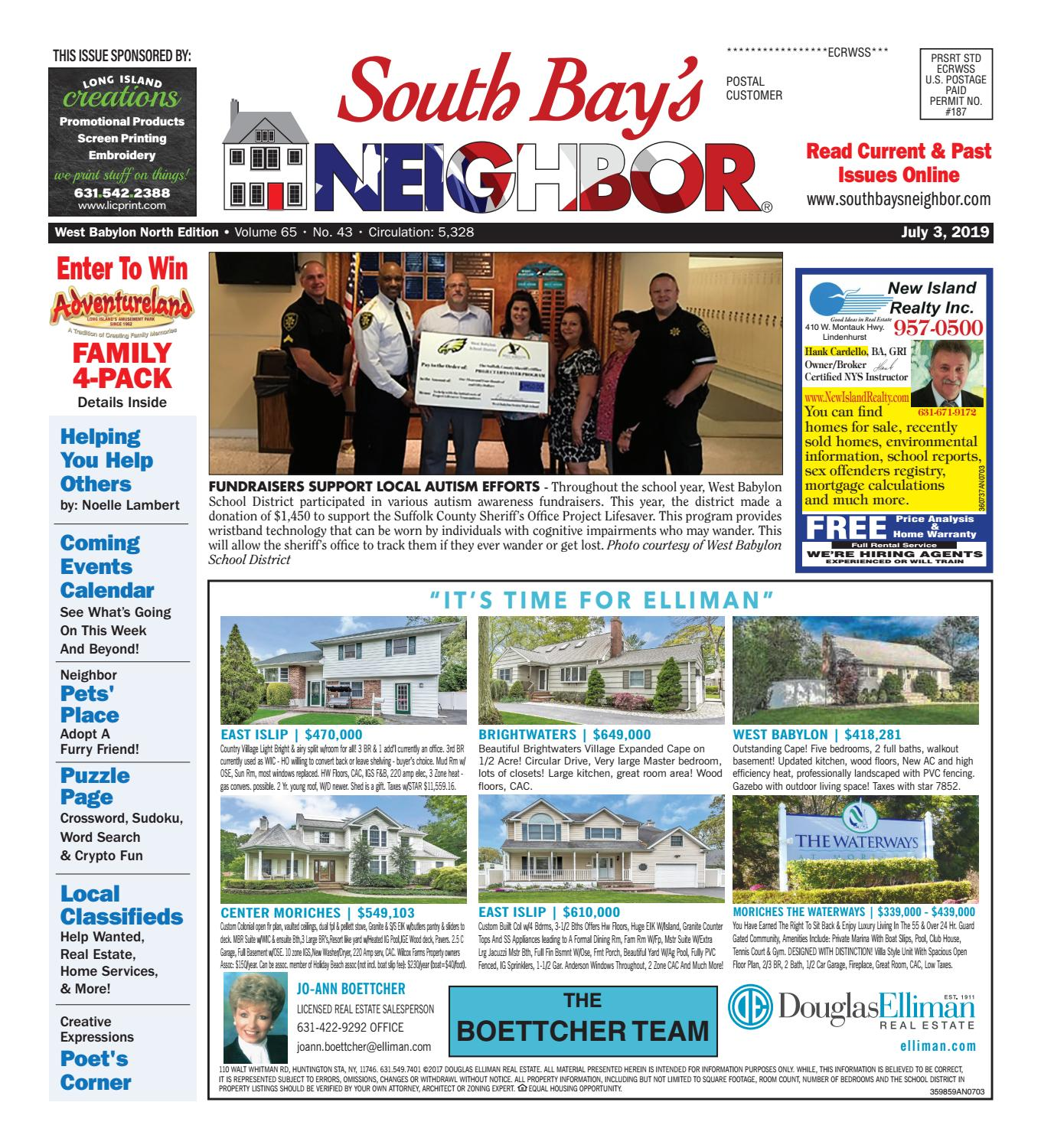 July 3, 2019 West Babylon North by South Bay's Neighbor