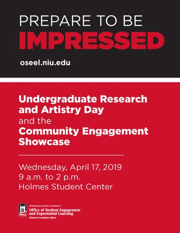 NIU Undergraduate Research and Artistry Day and the