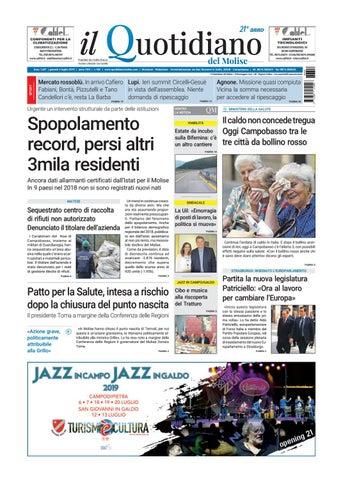 quotidiano del 04 07 19 by redazionecb issuu