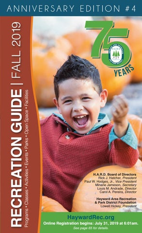 Hayward Area Recreation and Park District Fall 2019 Recreation Guide