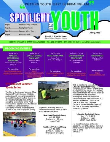 Spotlight On Youth July 2019 By City Of Birmingham Mayor S