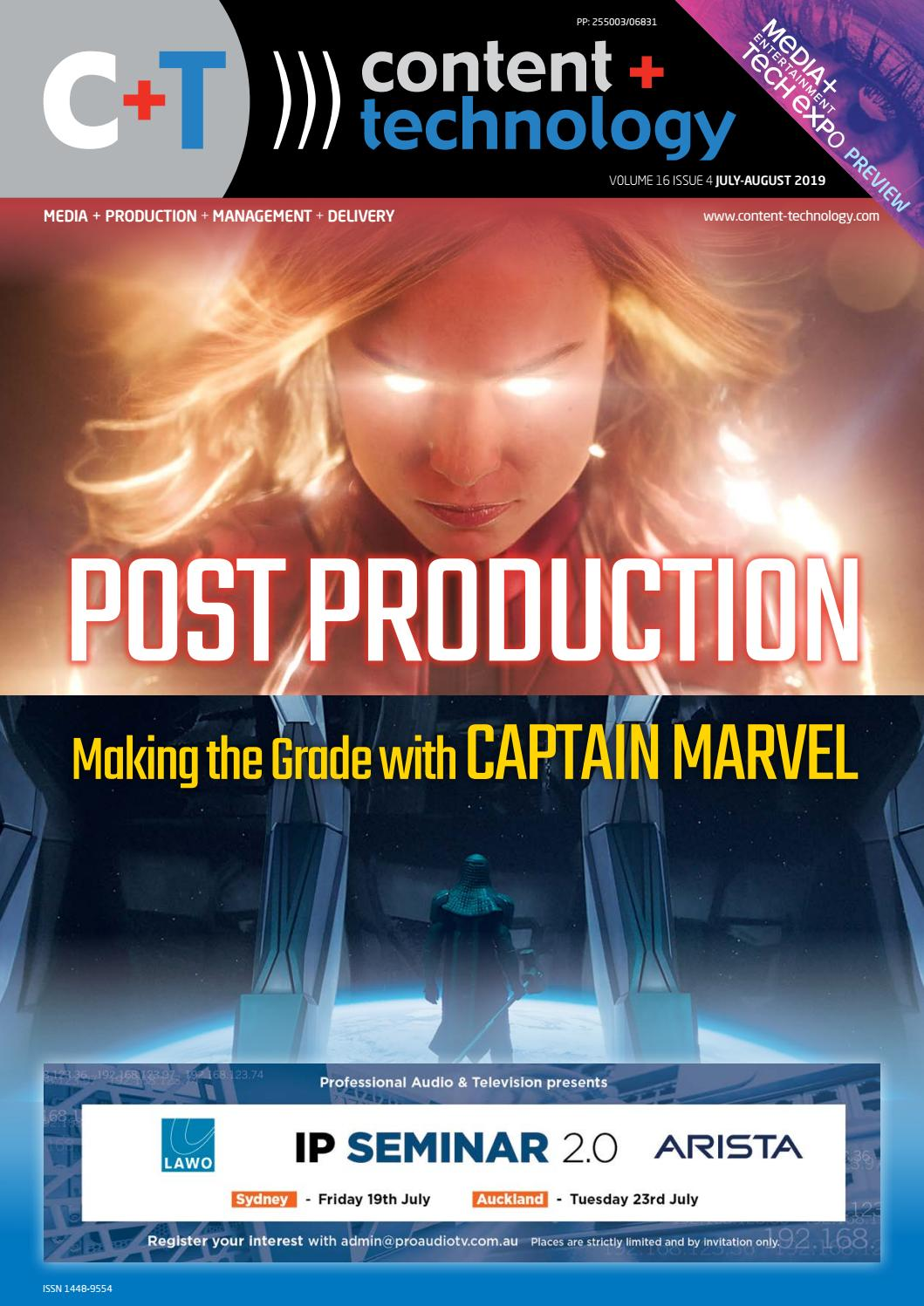 Content+Technology ANZ July-August 2019 by Broadcastpapers Pty Ltd