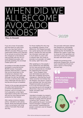 Page 12 of When did we all become avocado snobs?