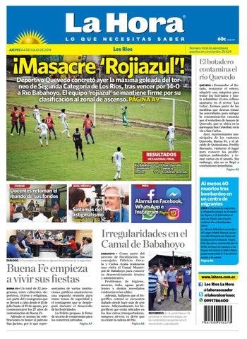 8f4225223f68a5 Los Ríos 04 de julio de 2019 by Diario La Hora Ecuador - issuu