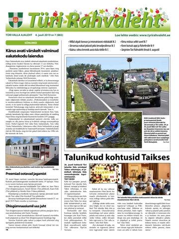 70d4c1c6c17 10.01.2019 Türi Rahvaleht by Tyri Development Agency - issuu