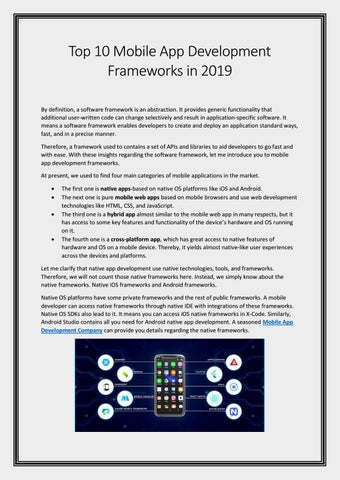 The Almost Best Collection Of Apps And >> Top 10 Mobile App Development Frameworks In 2019 By