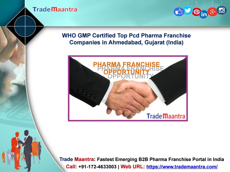 Best Pcd Pharma Franchise Companies in Ahmedabad, Gujarat - Trademaantra com