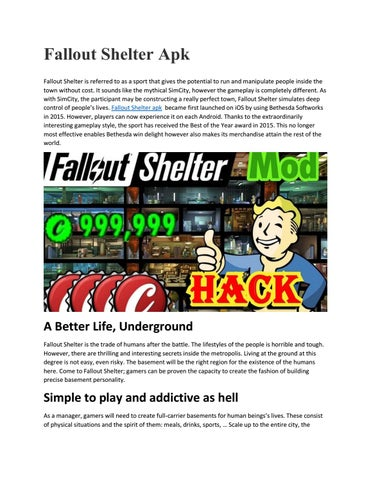 Fallout Shelter APK Download (MOD, Unlimited Money) 1 13 21 for