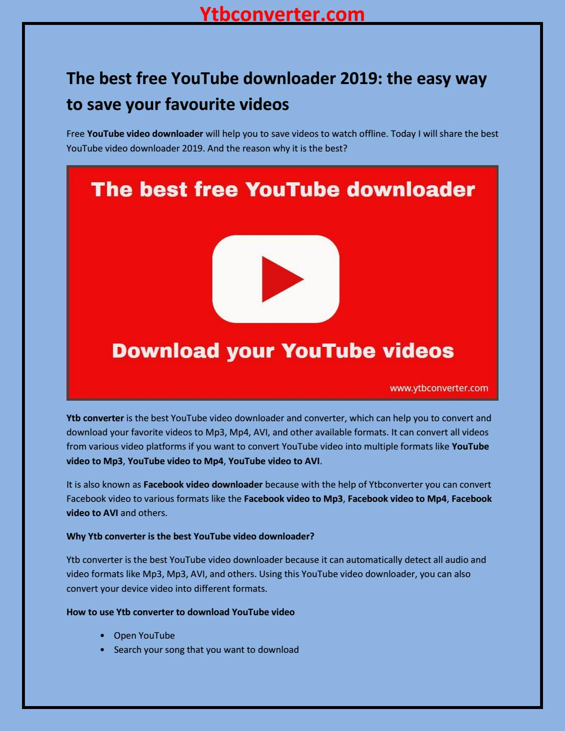 The best free YouTube downloader 2019: the easy way to save