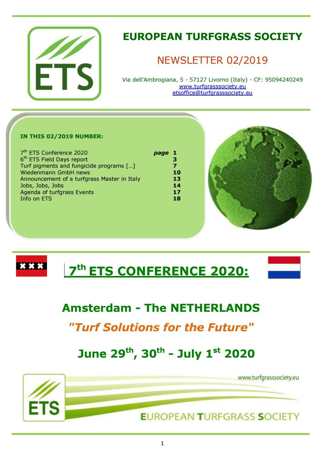 ETS NEWSLETTER 02-2019 by European Turfgrass Society - issuu