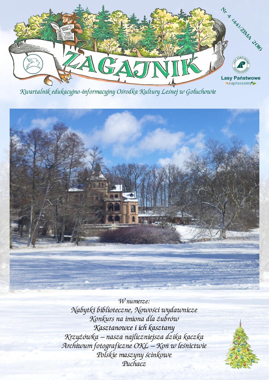Zagajnik Nr 4 44 Zima 2016 By Ośrodek Kultury Leśnej W