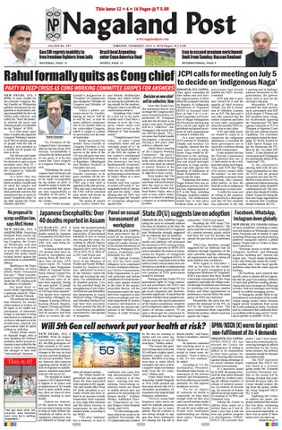 July 4, 2019 by Nagaland Post - issuu