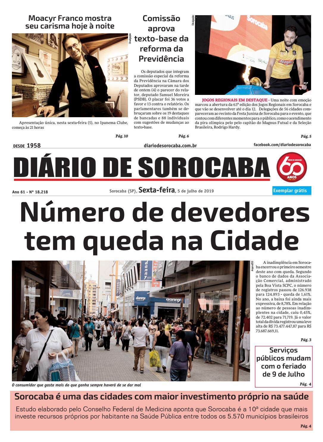 Sexta, 5 de julho by DIÁRIO DE SOROCABA - issuu