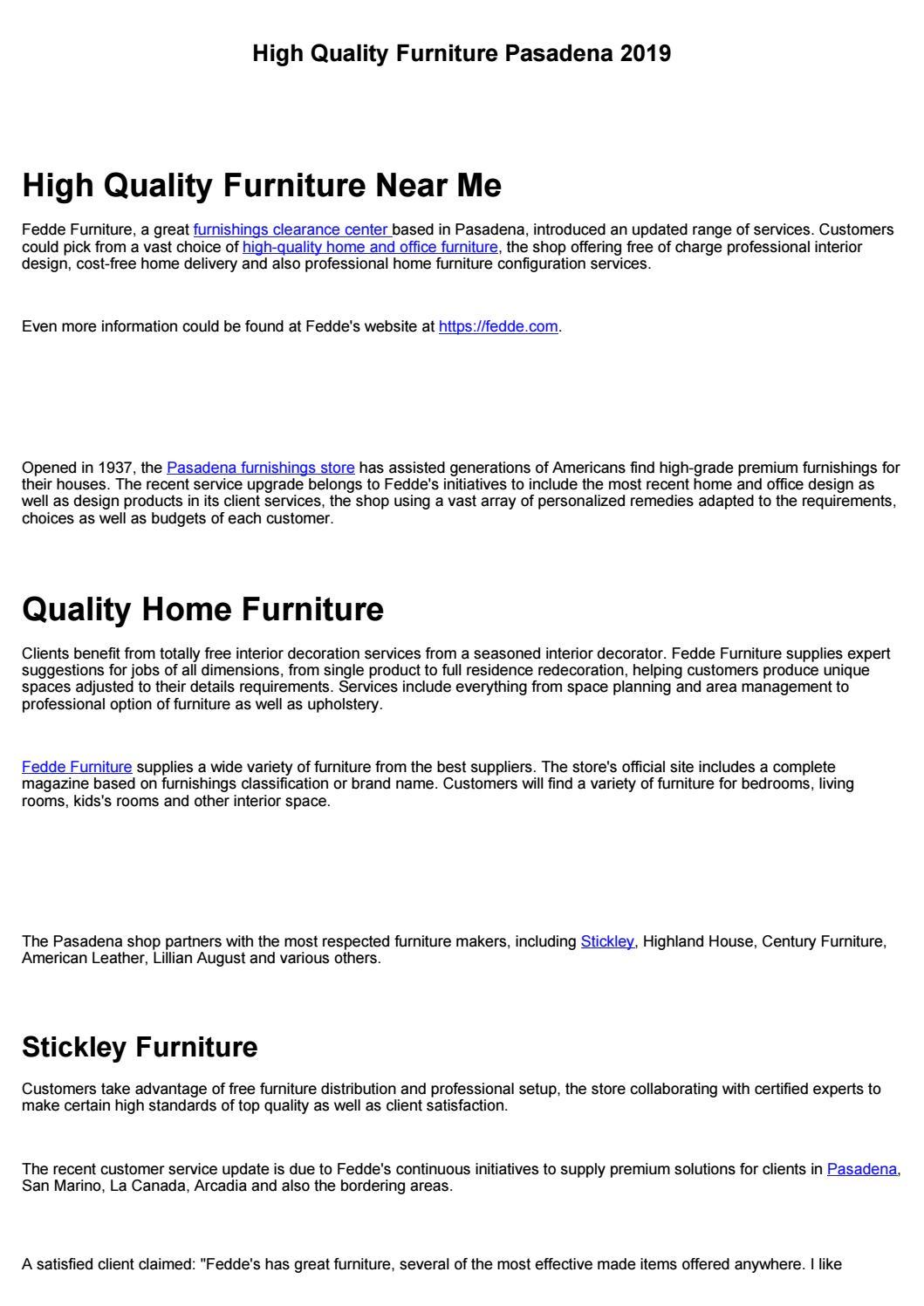 Top Furniture Pasadena 2019 By Austinquinceanera Issuu