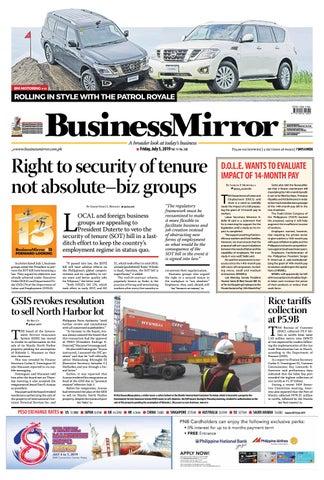 Businessmirror July 05, 2019 by BusinessMirror - issuu