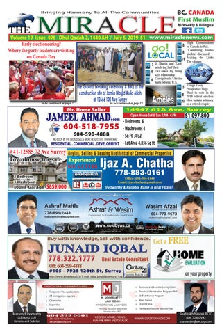 Miracle 496-July 5, 2019 by Naseer Pirzada - issuu
