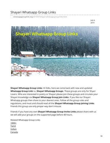 Shayari Whatsapp Group Links by whatsappgrouplinks77 - issuu