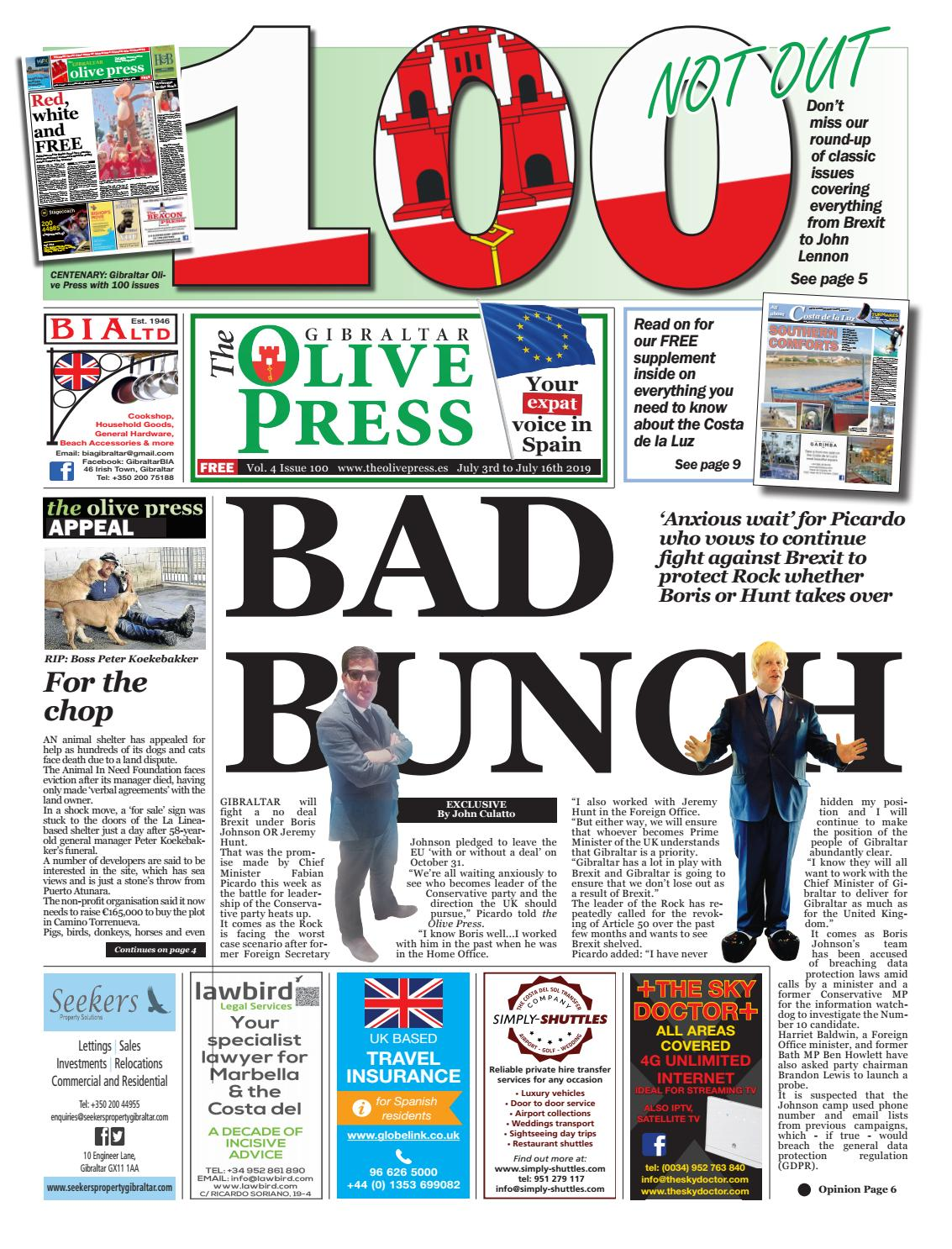 Gibraltar Olive Press - Issue 100 by Olive Press Newspaper Spain - issuu