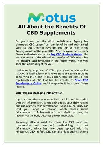 CBD Benefits List