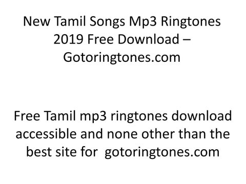 New Tamil Songs Mp3 Ringtones 2019 Free Download