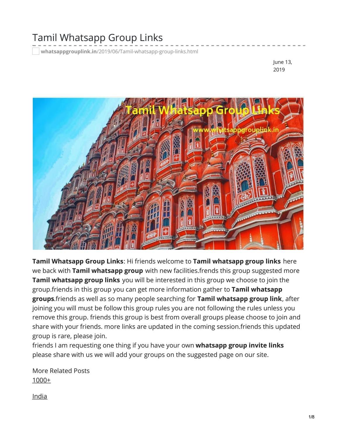 Tamil Whatsapp Group Links by whatsappgrouplink77 - issuu