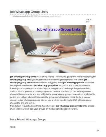 Job Whatsapp Group Links by whatsappgrouplink77 - issuu