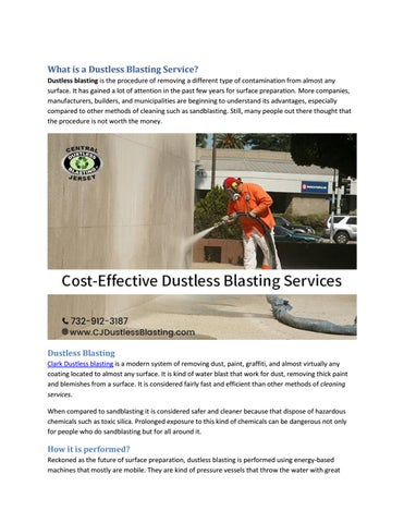 What is a Dustless Blasting Service? by Nathan Clark - issuu