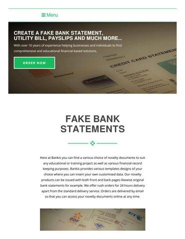 Apart Design Bank.Fake Bank Statements By Bankis Issuu