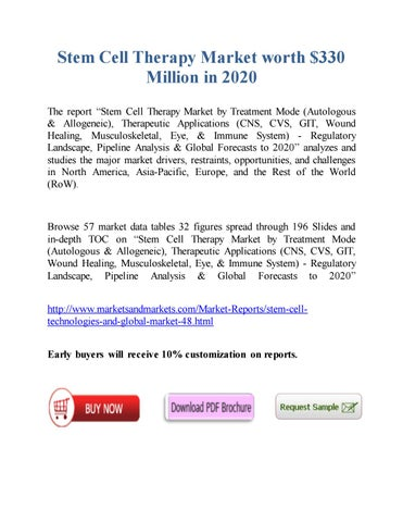 Stem Cell Therapy Market worth 145 8 Million USD by 2021 by