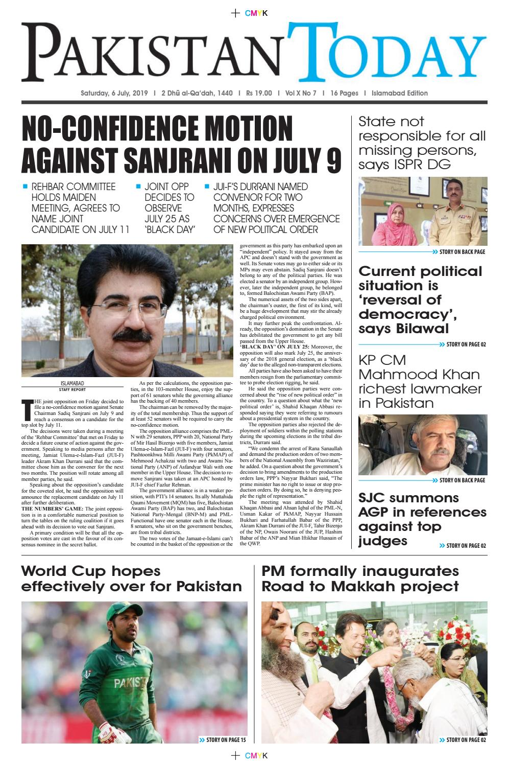 E-Paper PDF 6 July (ISB) by Pakistan Today - issuu