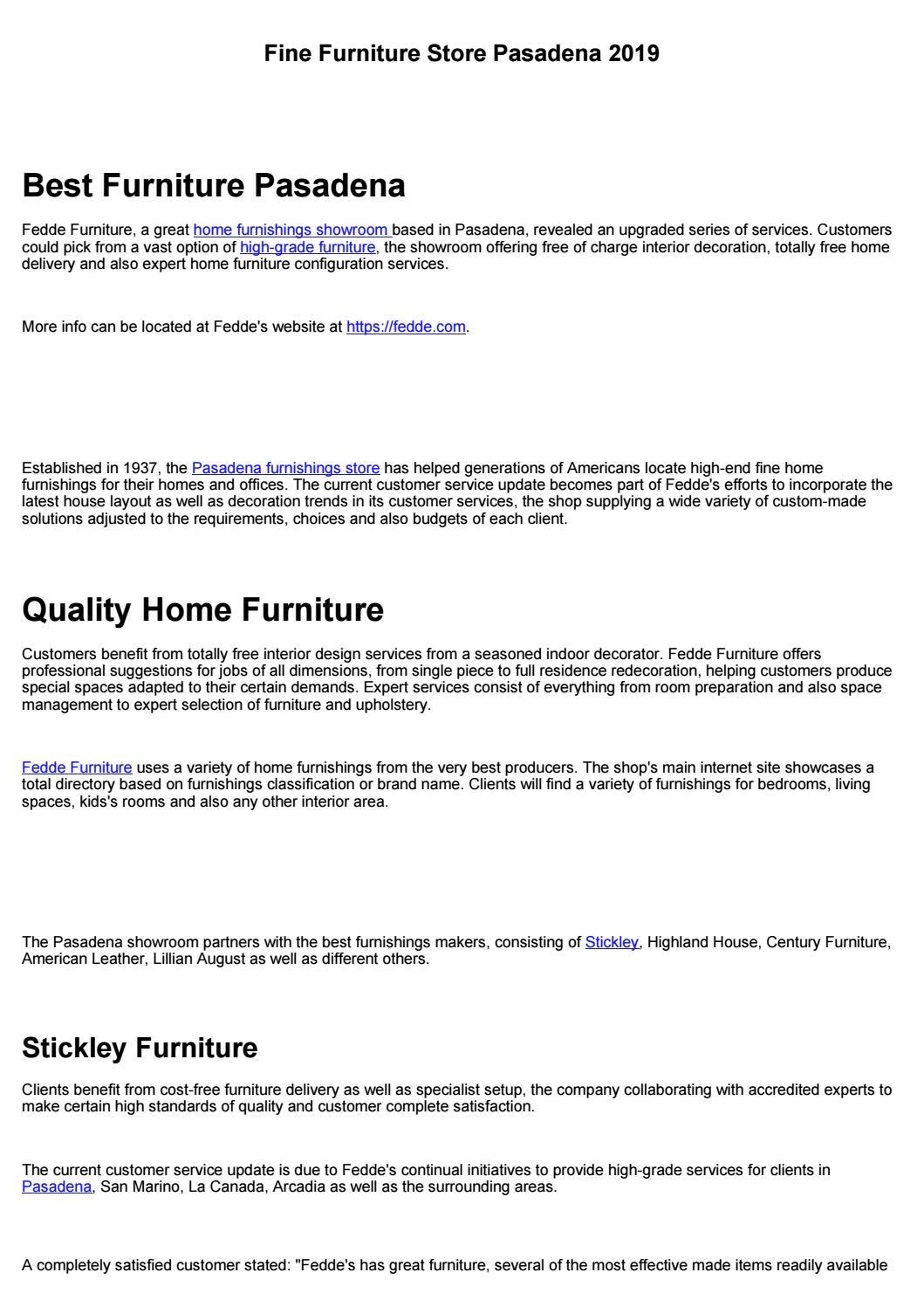 High Quality Furniture Pasadena 2019 By Perillouxlen1961 Issuu