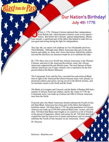 Page 8 of Our Nation's Birthday July 4, 1776