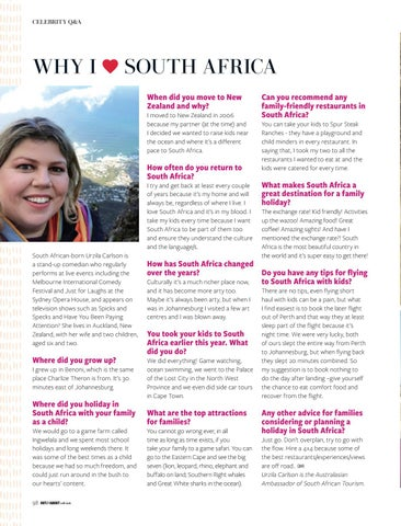 Page 98 of Urzila Carlson shares why she loves South Africa