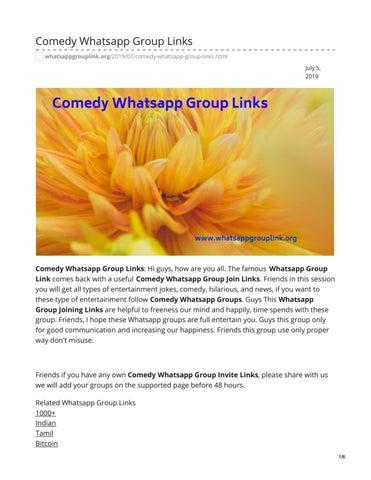 Comedy Whatsapp Group Links by whatsappgrouplinks77 - issuu