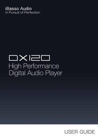 Manuale Lettore Audio Alta Definizione iBasso DX120 by