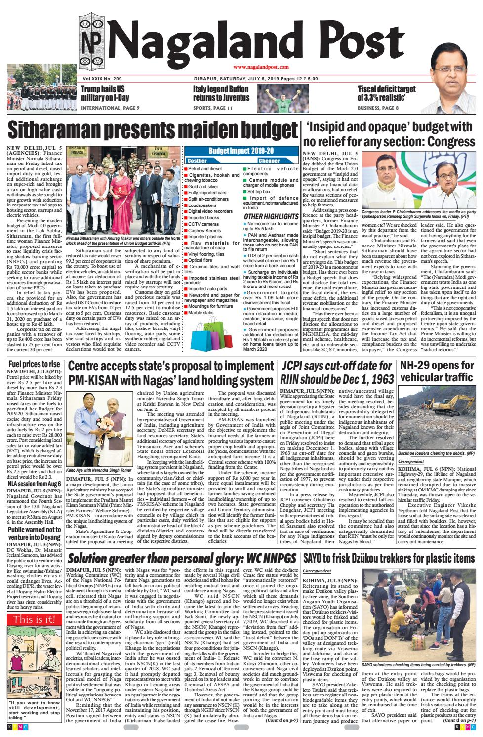 July 6, 2019 by Nagaland Post - issuu