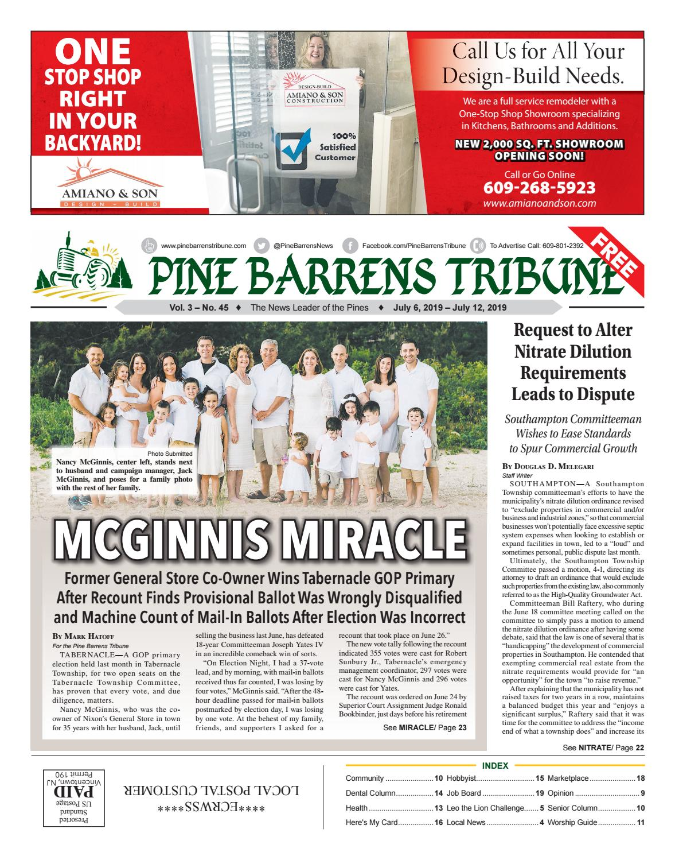 Pine Barrens Tribune July 6 July 12 2019 By Pine Barrens Tribune Issuu
