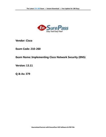 210-060 EnsurePass-Exam-Dumps-PDF-VCE-Practice-Test