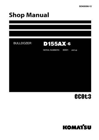 Komatsu D155ax 6 Dozer Bulldozer Service Repair Manual Sn 80001 And Up By 1639475 Issuu