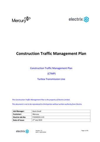 Discipline Practices Erect Detours For >> Draft Turitea Construction Traffic Management Plan By