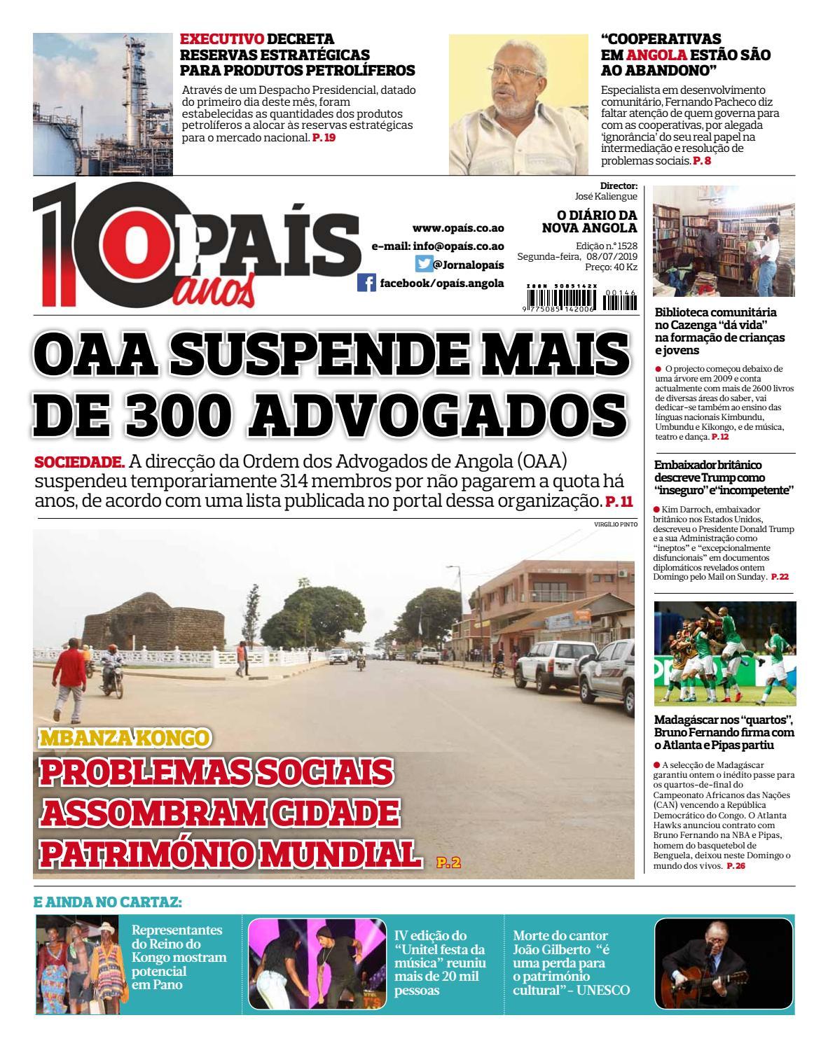 34fe763b0 Jornal OPaís edição nº1528 de 08/07/2019 by OPAÍS - issuu