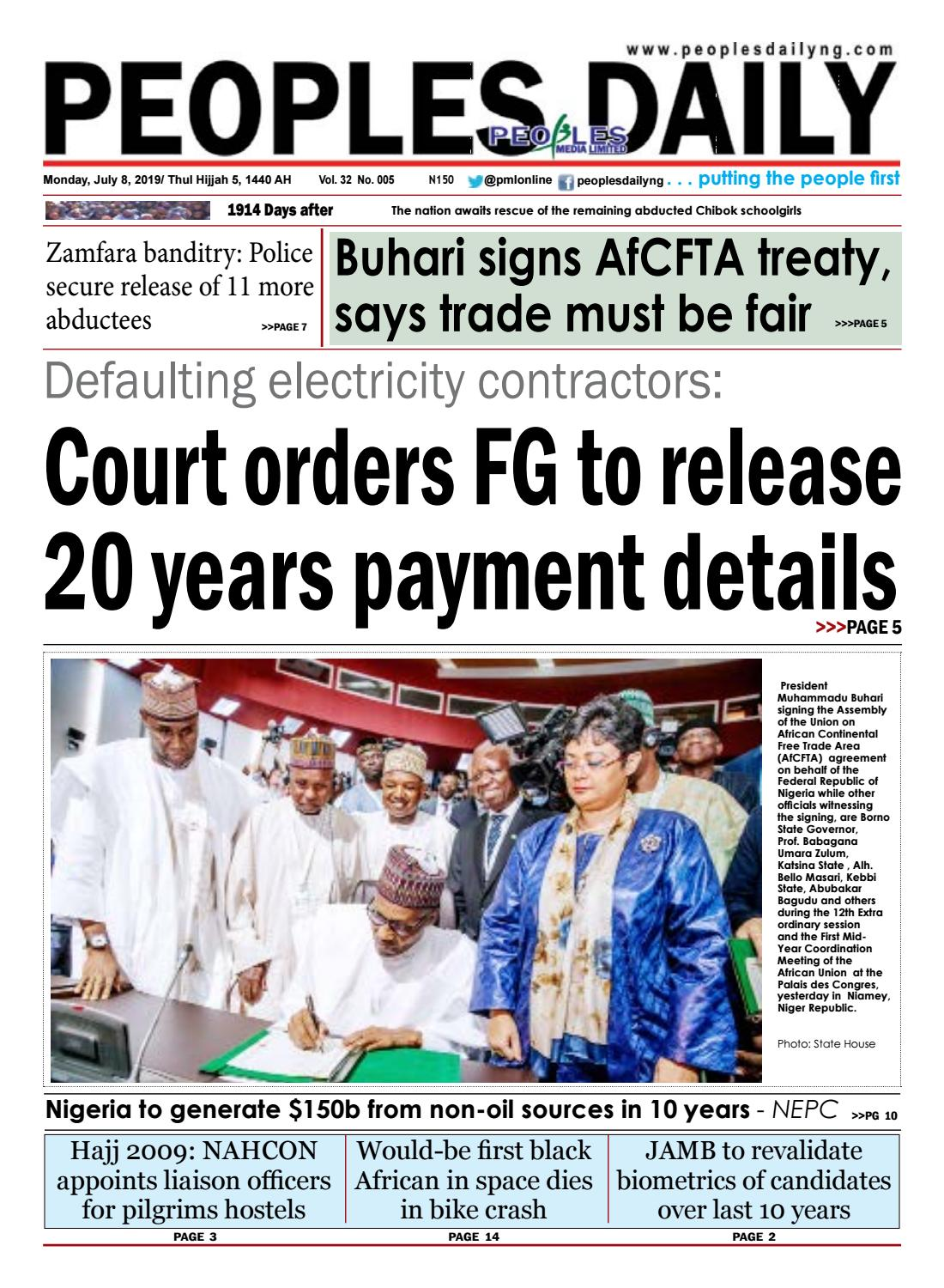 Monday, July 8, 2019 Edition by Peoples Media Limited - issuu