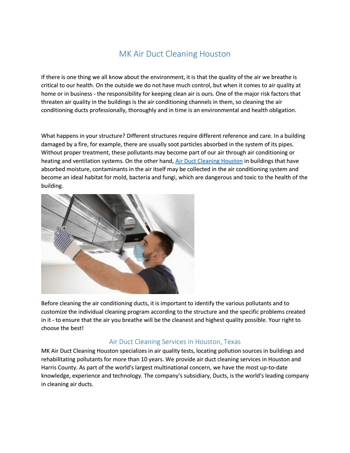 MK Air Duct Cleaning Houston by mkairducthtx - issuu
