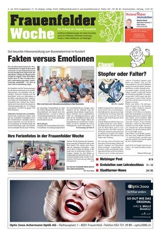 Frauenfelder Woche, Ausgabe KW 44, 30. Oktober 2019 by