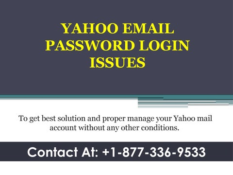 Yahoo Email Password Login Issues by sharonthomas287 - issuu