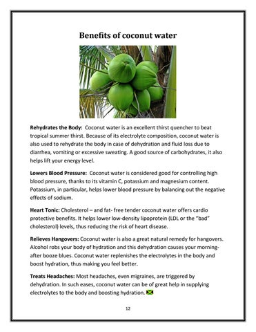 Page 12 of Benefits of coconut water