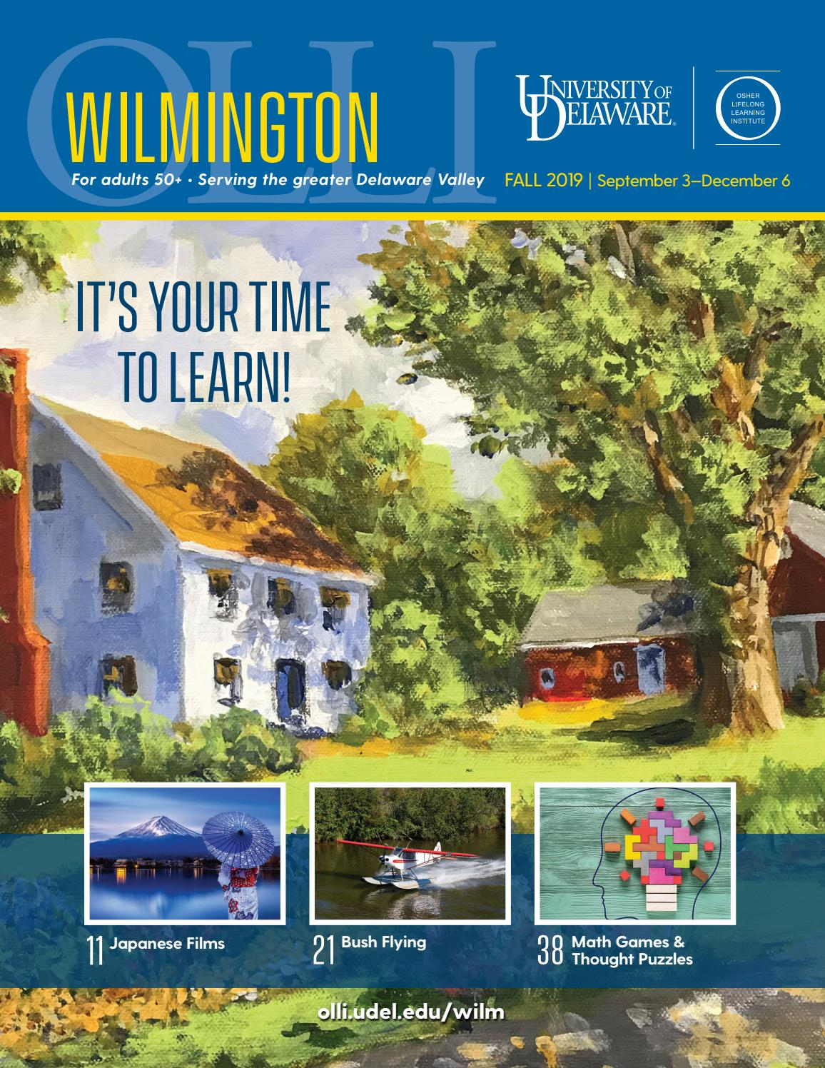 UD Osher Wilmington Catalog, Fall 2019 by University of