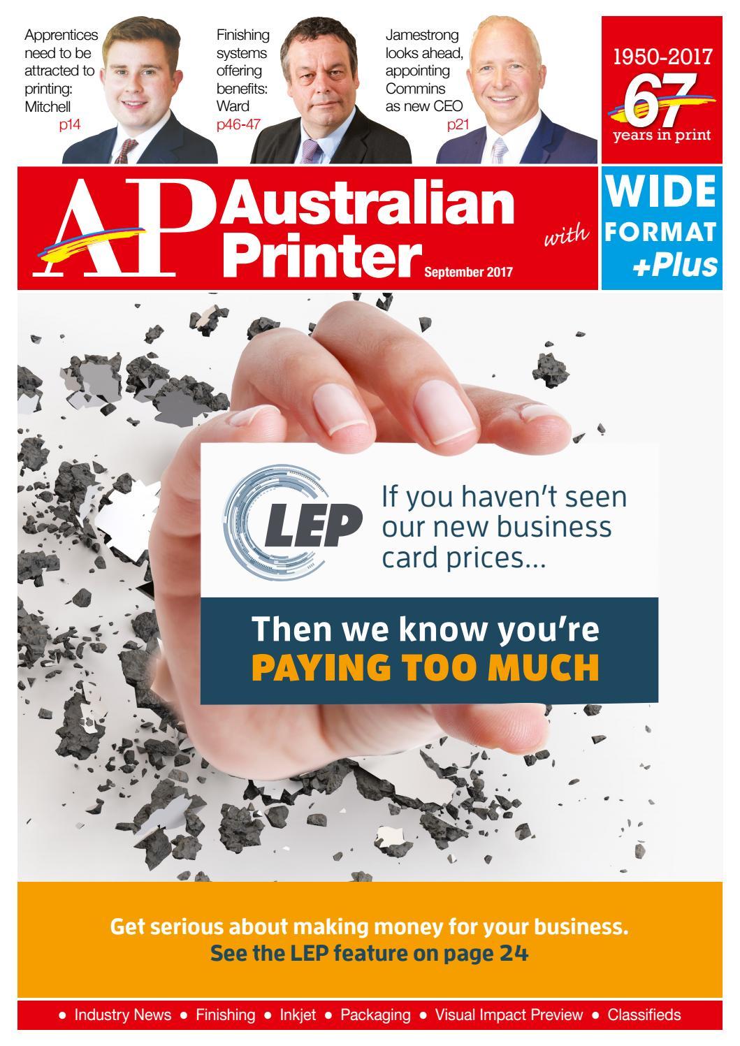 Australian Printer September 2017 by The Intermedia Group