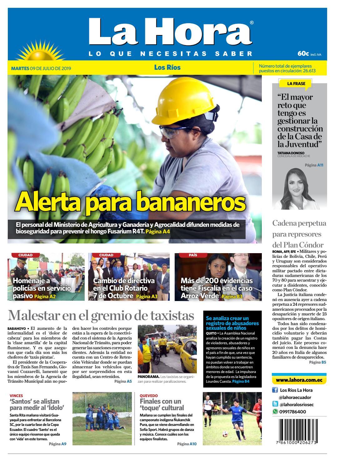 5b906f367be4 Los Ríos 09 de julio de 2019 by Diario La Hora Ecuador - issuu